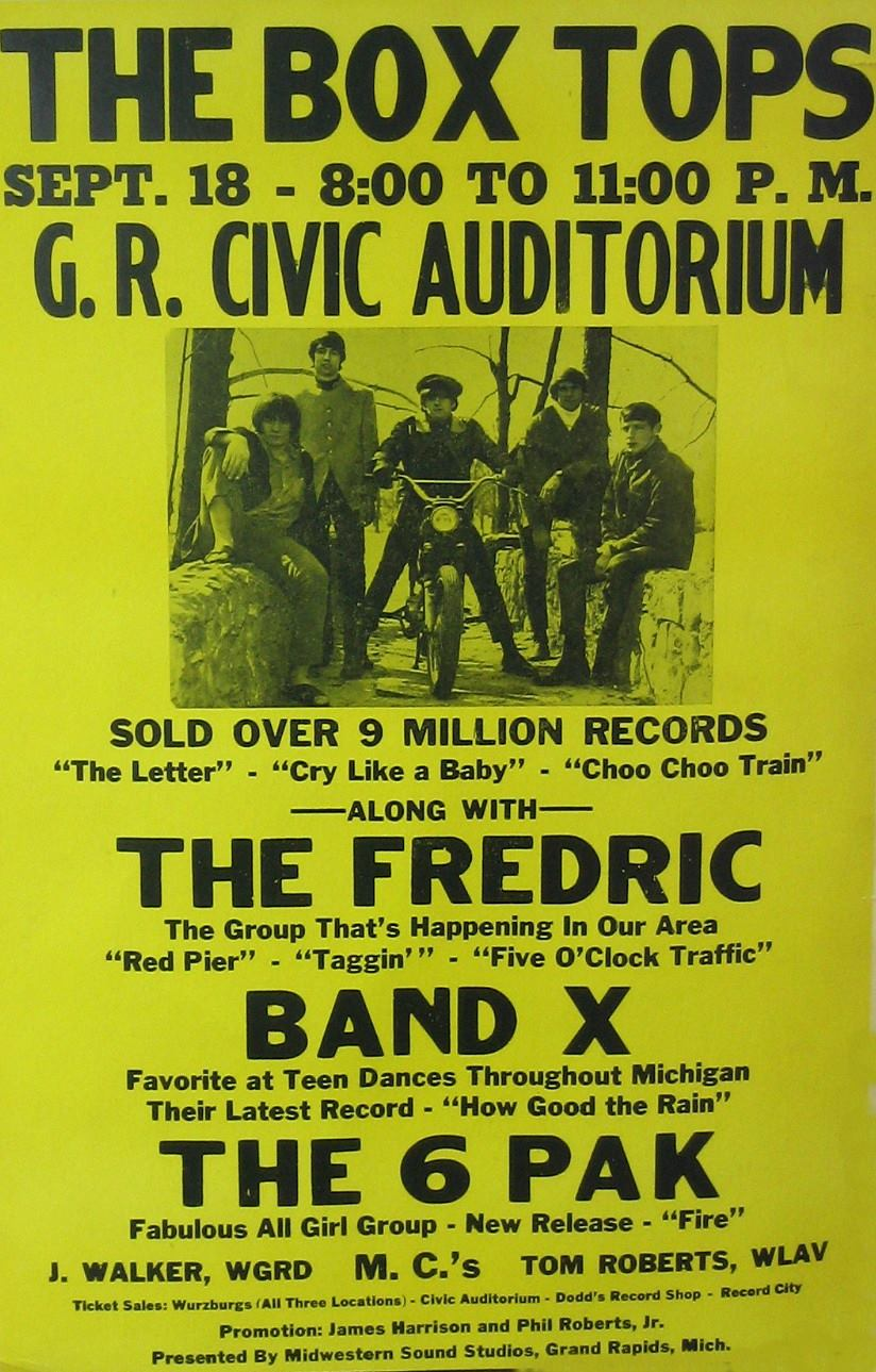 The Box Tops The Fredric Band X The 6 Pak Civic Auditorium